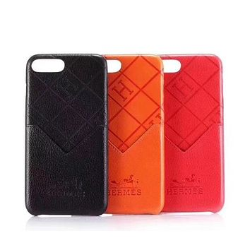 Hermes Popular Simple Leather Soft Phone Cover Case For iphone 6 6s 6plus 6s-plus 7 7plus iPhone 8 8 Plus iPhone X