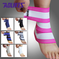 1pcs High Quality Ankle Support Spirally Wound Bandage Volleyball Basketball Ankle Orotection Adjustable Elastic Bands