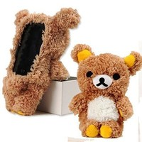 Aurora® Stylish Cute 3D Teddy Bear Doll Toy Plush Case Cover For Apple iPhone 6 5.5 inch iPhone 6 4.7 inch iPod Touch 4 iPod Touch 5 iPhone 5 iPhone 5S iPhone 5C iPhone 4 iPhone 4S Samsung Galaxy S4 Galaxy SIV i9500 Samsung Galaxy S3 Galaxy SIII i9300--Bro