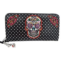 Sugar Skull Mexican Day of the Dead Dia De Muertos Wallet