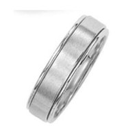 HiS & HERS platinum wedding band fine quality L@@K!!
