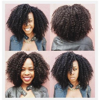 Hot Selling Afro Kinky Curly Wigs Synthetic Heat Resistant Cheap Wigs Synthetic For Black Women