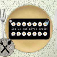 Lol Ur Not Hayes Grier Daisy Flower Pattern Cute Custom Rubber Case iPod 5th Generation and Plastic Case For The iPod 4th Generation