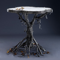 Occasional Table: Bill Masterpool: Metal & Marble Table - Artful Home