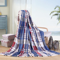 Adults blanket flannel blanket warm blankets plaid super warm soft throw on sofa/bed/plane travel plaids patchwork polyester