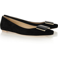 Tod's | Embellished suede point-toe flats | NET-A-PORTER.COM