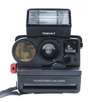 Vintage Polaroid Pronto Land Camera and With Flash