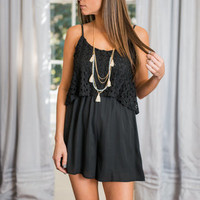 Out For The Night Romper, Black