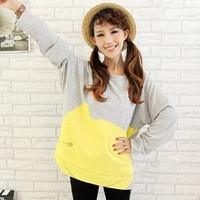 Gray and Yellow Cat Sweater