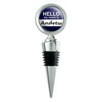 Andrew Hello My Name Is Wine Bottle Stopper