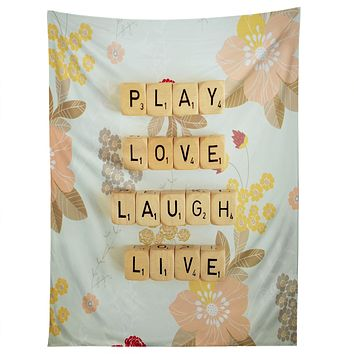 Happee Monkee Play Love Laugh Live Tapestry