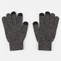 Blue Crown Marled Touch Screen Gloves Grey One Size For Men 26871011501