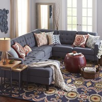 Build Your Own Nyle Graphite Gray Sectional Collection