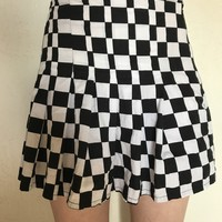 checkered omighty skirt