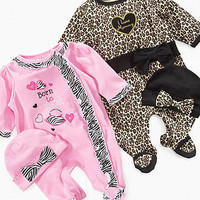 Baby Essentials Baby Set, Baby Girls Coverall and Hat Set - Kids Baby Girl (0-24 months) - Macy's