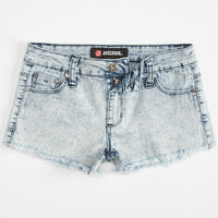 Scissor Acid Wash Girls Knit Denim Shorts Acid Wash  In Sizes