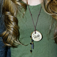 Wizard wood pendant necklace