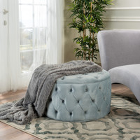 Maelyn Plush New Velvet Ottoman