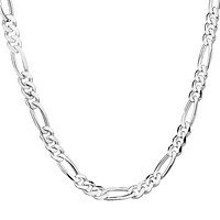 Silver Chain Necklace For Women Men