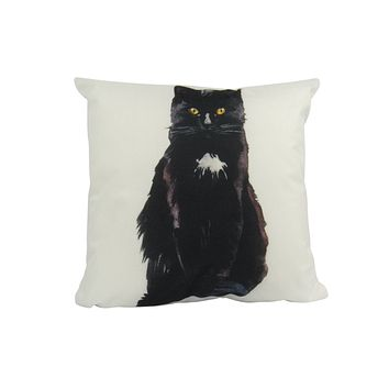 Cat | Black Cat | Cat Pillow | Cute Cat | Cat Gifts | Cat Decor | Cat Photo | Gifts for Cat Lovers | Accent pillow | Throw Pillow Covers