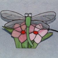 Nightlight - Stained Glass Dragonfly Lamp