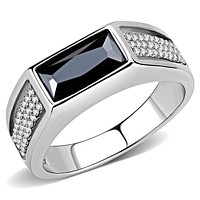 Mens Stainless Steel Rings DA284 Stainless Steel Ring with CZ