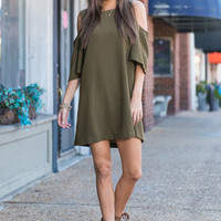 Rapports Delight Dress, Olive