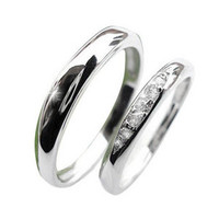 Smooth Silver Couples Rings .925 Sterling for HER Silver Platinum Jewelry-Size 5