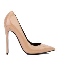 Circus Pointed Toe Pumps in Dark Nude Patent