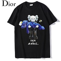 DIOR Fashion Newest Women Men Casual Print Short Sleeve T-Shirt Top Black