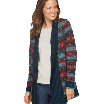 Textured Donegal Flyaway Cardigan, Fair Isle: Cardigans | Free Shipping at L.L.Bean