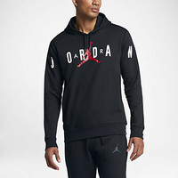 JORDAN FLIGHT FLEECE GRAPHIC PULLOVER
