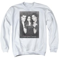 Vampire Diaries - That Was Then Adult Crewneck Sweatshirt Officially Licensed Apparel