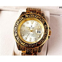 Rolex 2019 new carved pattern personality wild quartz watch #4
