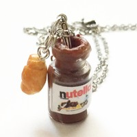 Nutella Jar and Croissant Necklace