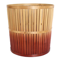 Ombre Large Bamboo Storage Basket