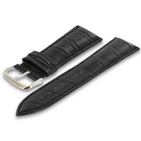 Black Crocodile Leather Premium Buckle Watch Band Strap for Apple Watch 38mm