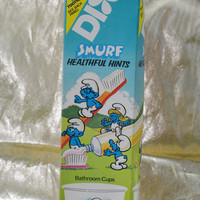 Vintage Dixie Smurf Cups - Bathroom Cups - Smurf Healthful Hints