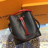 LV Louis Vuitton WOMEN'S EPI LEATHER LOCKME BUCKET SHOULDER BAG