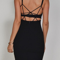 Strappy Black Dress