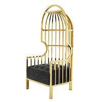 Gold Metal Birdcage Chair | Eichholtz Bora Bora