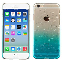 Apple iPhone 6 6S (4.7) Transparent Baby Blue Gradient Water Drop Back Case Cover