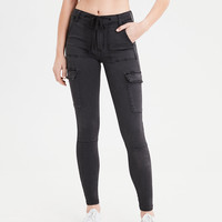 High-Waisted Jegging, Faded Black