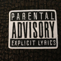Parental Advisory Explicit Lyrics Ironon Patch by LeRockShop