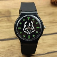 Star Wars Force Episode 1 2 3 4 5 Fashion  Darth Vader Quartz wrist Watch For kids women man Animation silicone gift watches with Luminous hands AT_72_6