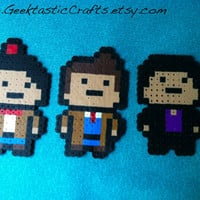 Dr. Who: All 3 Doctors Collection Magnet/keychain/ect Set