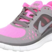 Women's Nike Free Run 3 Running Shoe Pink/Grey/Silver Size 8