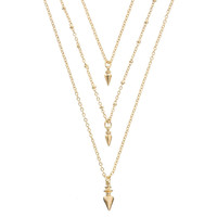 FINIAL Layered Necklace - Gold