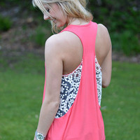 House Party Tank - Coral
