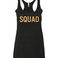 SQUAD Bachelorette Tank Top with Gold Print